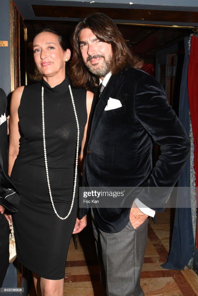 Tania de Bourbon Parme and Stephane Rolland attend The Art De La Matiere AD Interieurs 2017 After Cocktail Dinner at La Perouse on September 5, 2017 in Paris, France.