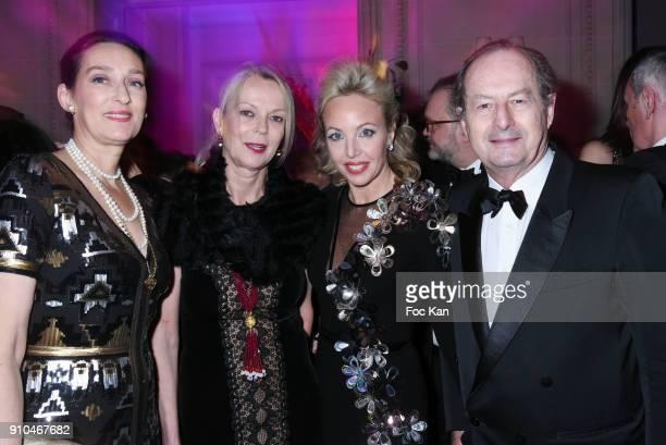 Tania de Bourbon Parme Helene de Yougoslavie Princesse Camilla de Bourbon des Deux Siciles and Jean Marie Rouart attend the 41st The Best Award...