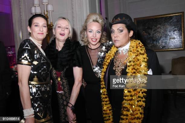 Tania de Bourbon Parme Helene de Yougoslavie Princesse Camilla de Bourbon des Deux Siciles and Hermine de Clermont Tonnerre attend the 41st The Best...