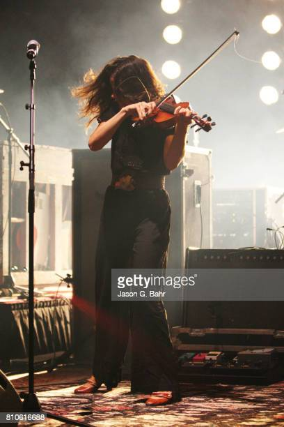 Tania Elizabeth of The Avett Brothers performs at Red Rocks Amphitheatre on July 7 2017 in Morrison Colorado