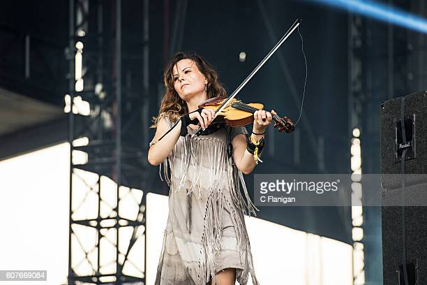 Tania Elizabeth of The Avett Brothers performs on the Sunset Cliffs Stage during the 2016 KAABOO Del Mar at the Del Mar Fairgrounds on September 18...