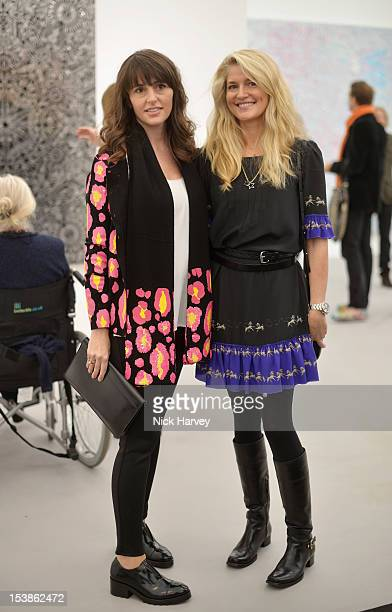 Tania Fares and Avery Agnelli attends the VIP preview of Frieze Art Fair on October 10 2012 in London England