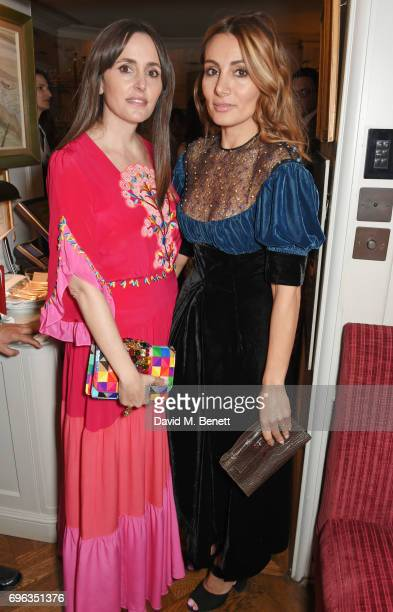 Tania Fares and Narmina Marandi attend an intimate dinner hosted by Alice NaylorLeyland for friends to celebrate her Garden Rose Cologne...