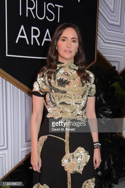Tania Fares attends the Fashion Trust Arabia Prize awards ceremony on March 28, 2019 in Doha, Qatar.