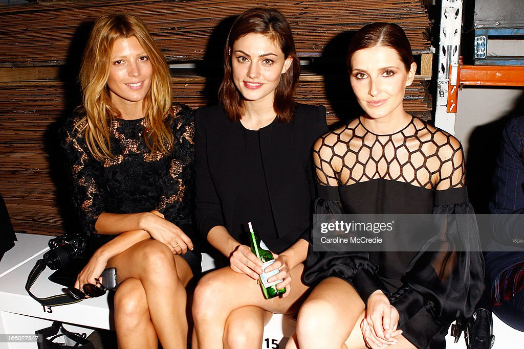 Tania G, Pheobe Tonkin, and Kate Waterhouse attend the Alex Perry show during Mercedes-Benz Fashion Week Australia Spring/Summer 2013/14 at Carriageworks on April 8, 2013 in Sydney, Australia.
