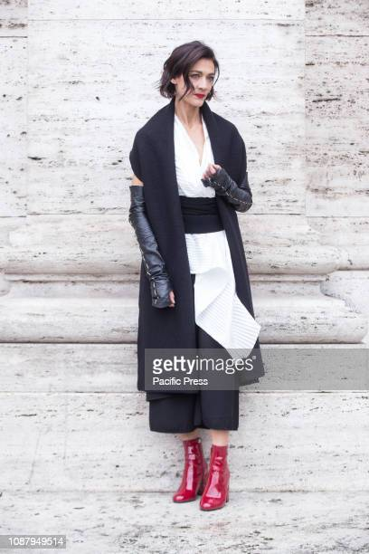 """Tania Garribba during the Photocall of the Italian film """"Il Primo Re""""."""