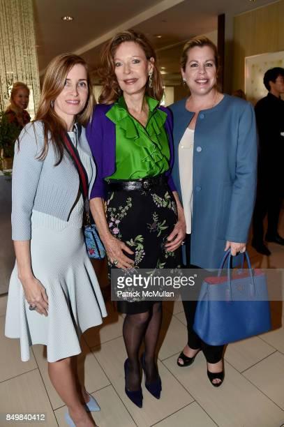 Tania Higgins Margo Langenberg and Barbara Glatt attend Audrey Gruss Marc Metrick Host hope Fragrance Luncheon at Cafe SFA Saks Fifth Avenue on...
