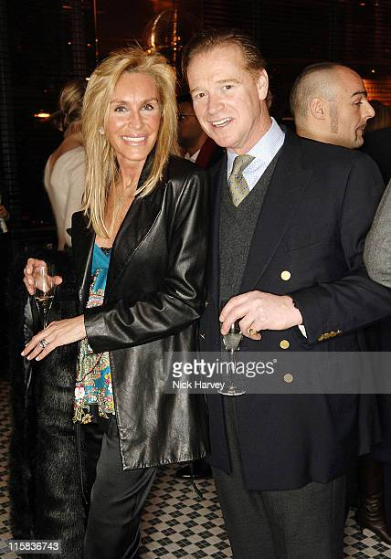 Tania Isnard and James Hewitt during Frankie's Italian Bar and Grill Opening at 263 Putney Bridge in London Great Britain