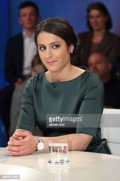 Tania Kambouri in der ZDFTalkshow maybrit illner am in Berlin Angst vor der Parallelgesellschaft Kann Deutschland Integration