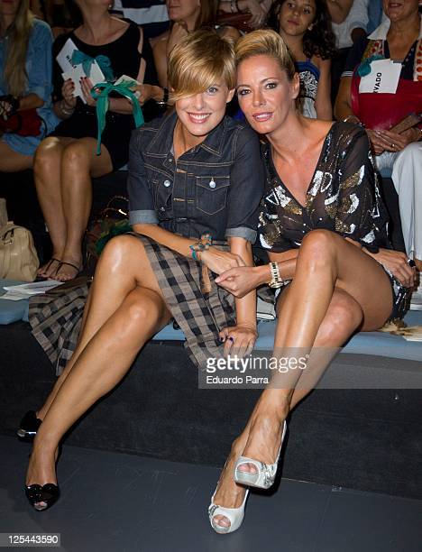 Tania Llasera and Paula Vazquez are seen attending Cibeles Fashion Week S/S 2012 at Ifema on September 17 2011 in Madrid Spain