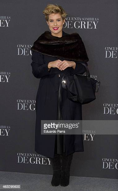 Tania Llasera attends '50 Shades of Grey' premiere at Callao City Lights cinema on February 12 2015 in Madrid Spain