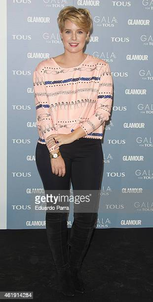 Tania Llasera attends 'Gala for Tous' collection party photocall at Pons Foundation on January 21 2015 in Madrid Spain