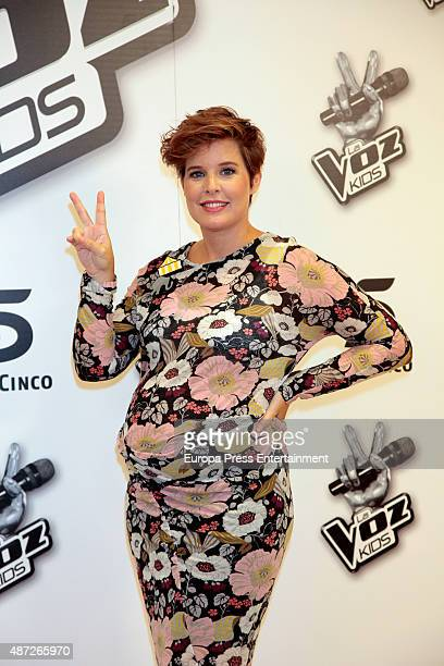 Tania Llasera attends 'La Voz Kids' new edition presentation on September 4 2015 in Madrid Spain