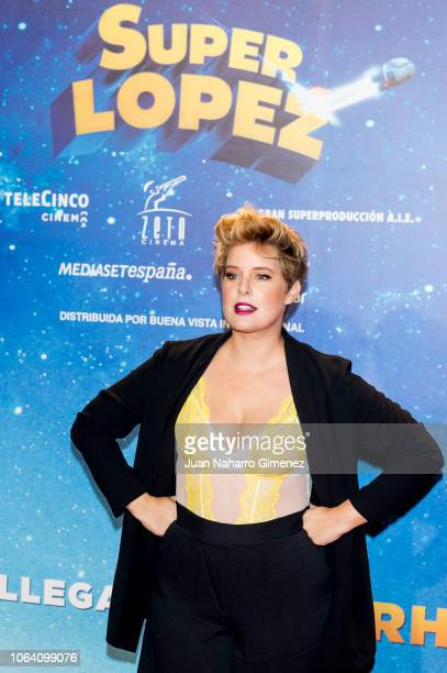 Tania Llasera attends 'Superlopez' premiere at Capitol Cinema on November 21 2018 in Madrid Spain