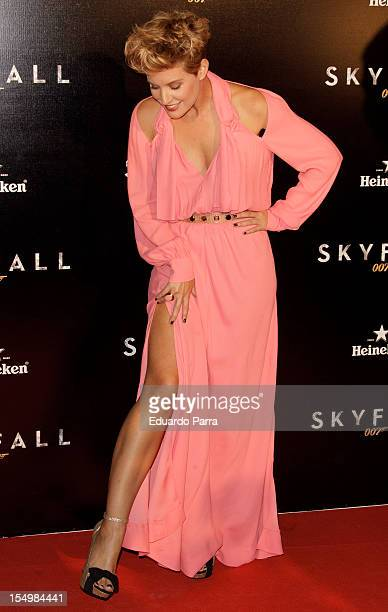 Tania Llasera attends the 'Skyfall' premiere photocall at Santa Ana square on October 29 2012 in Madrid Spain