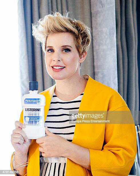 Tania Llasera presents the new Listerine product on June 22 2015 in Madrid Spain