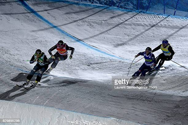 Tania Prymak of USA competes, Sandra Naeslund of Sweden competes, Anna Holmlund of Sweden competes, Marte Hoeie Gjefsen of Norway competes during the...