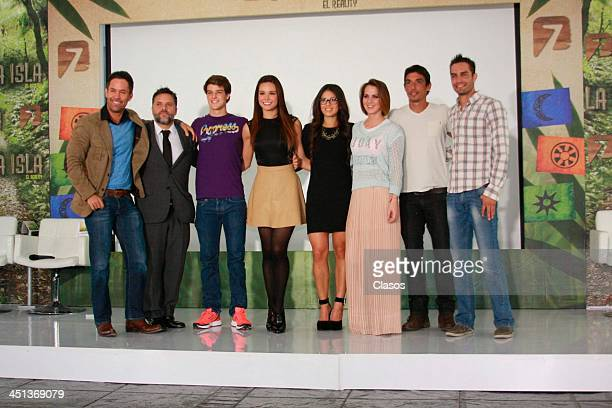 Tania Rincon Ana Ransanz Ceci Ponce Alberto Guerra Ricardo Alcala and Juan Carlos Somoza pose during a press conference of the Reality Show The...