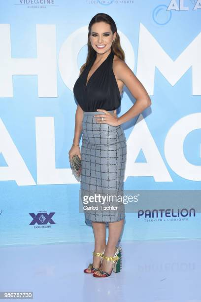 Tania Rincon poses for pictures during the 'Overboard ' Mexico City premiere at Cinemex Antara on May 8 2018 in Mexico City Mexico
