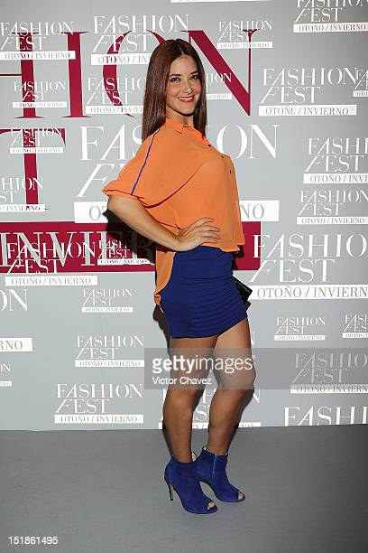Tania Riquenes attends the Liverpool Fashion Fest Autumn/Winter 2012 after party at Liverpool Polanco on August 29 2012 in Mexico City Mexico