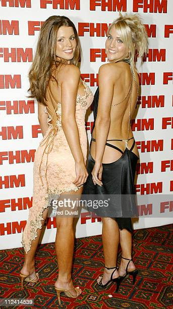 Tania Robinson and Kelly Pierce during FHM Top 100 Sexiest Women 2004 at Guild Hall in London Great Britain