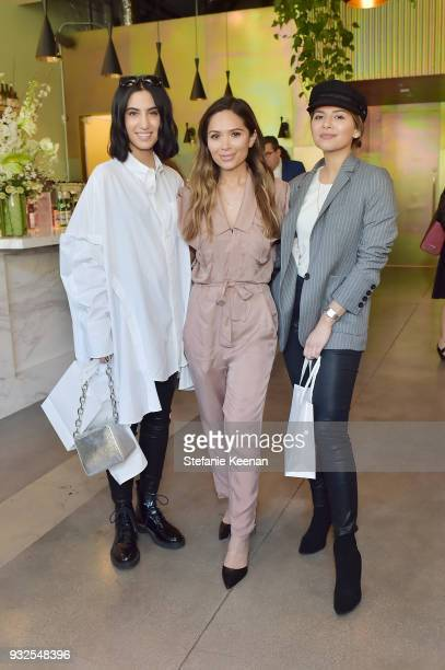 Tania Sarin Marianna Hewitt and Pam Hetlinger attend Summer Fridays Skincare Launch With Marianna Hewitt Lauren Gores Ireland at Hayden on March 15...