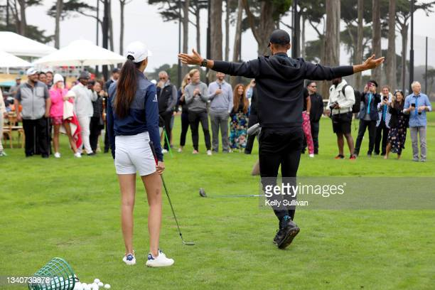 Tania Tare and Stephen Curry attend The Workday Charity Classic, hosted by Stephen and Ayesha Curry's Eat. Learn. Play. And Workday, at Franklin...