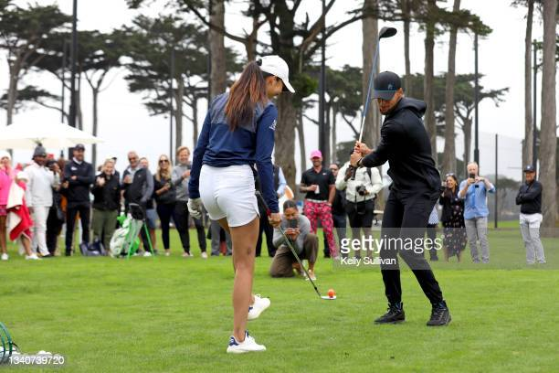 Tania Tare, Ayesha Curry, and Stephen Curry attend The Workday Charity Classic, hosted by Stephen and Ayesha Curry's Eat. Learn. Play. And Workday,...