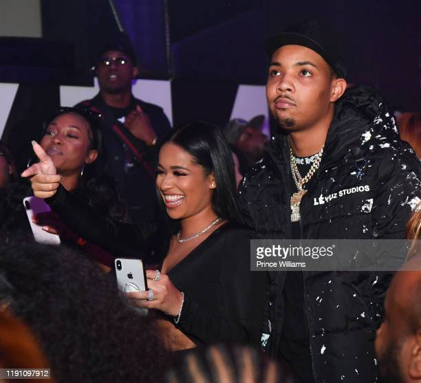 Tania Williams and G Herbo attend the All Black Birthday Celebration at Gold Room on November 30 2019 in Atlanta Georgia