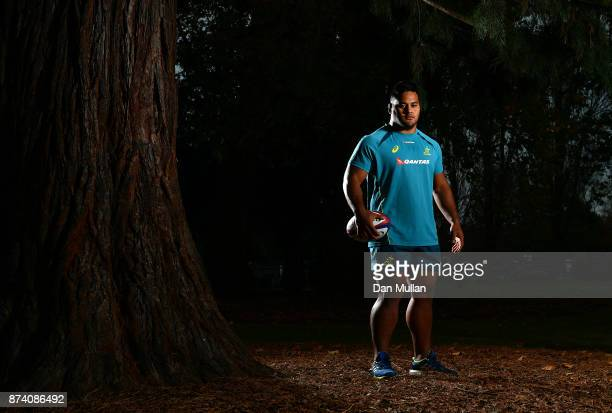 Taniela Tupou of Australia poses for a portrait prior to a training session at the Lensbury Hotel on November 14 2017 in London England