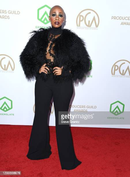 Tanisha LaVerne Grant arrives at the 31st Annual Producers Guild Awards at Hollywood Palladium on January 18, 2020 in Los Angeles, California.