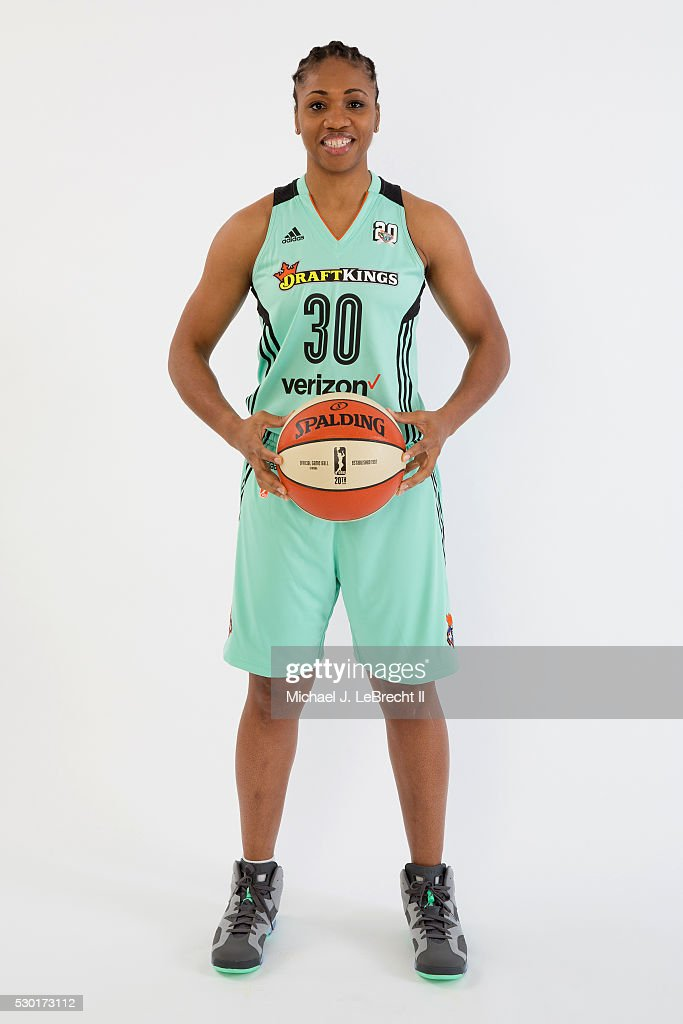 Tanisha Wright #30 of the New York Liberty poses for a portrait during media day on May 09, 2016 at Madison Square Garden Training Center in Tarrytown, New York.