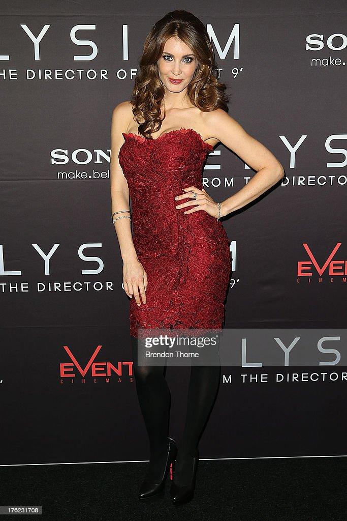 Tanit Phoenix arrives for the 'Elysium' Australian premiere at Event Cinemas George Street on August 12, 2013 in Sydney, Australia.