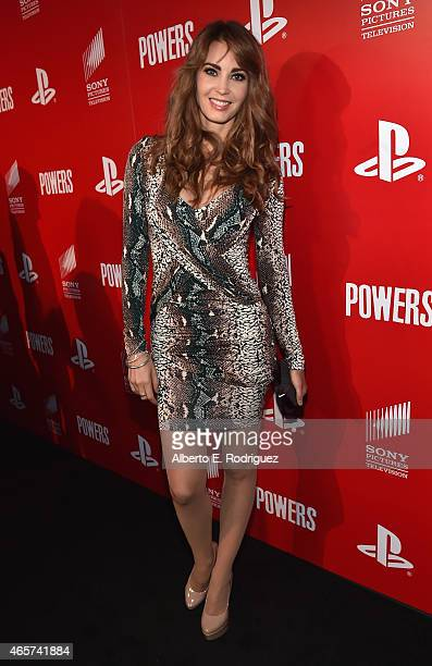 Tanit Phoenix attends the series premiere of Sony Television's Powers at Sony Pictures Studios on March 9 2015 in Culver City California