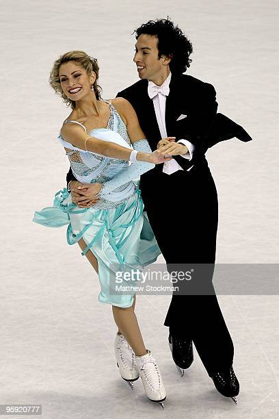 Tanith Belbin and Benjamin Agosto compete in the compulsory dance competition during the US Figure Skating Championships at Spokane Arena on January...