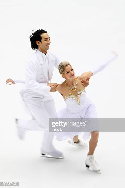Tanith Belbin and Benjamin Agosto of USA skate in the Ice Dancing Compulsory Dance during the Cup of China ISU Grand Prix of Figure Skating 2009 at...