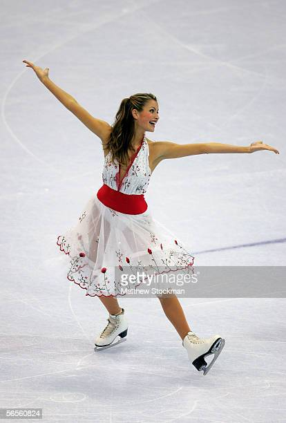 Tanith Belbin poses as she competes with her partner Benjamin Agosto in the Compulsory Dance program during the 2006 State Farm U.S. Figure...