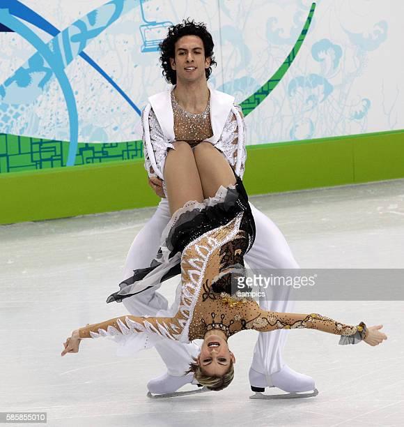Tanith Belbin und Benjamin Agosto Olympische Winterspiele 2010 in Vancouver Eiskunstlauf Eistanz Kur Olympic Winter Games 2010 Figure skating Ice...