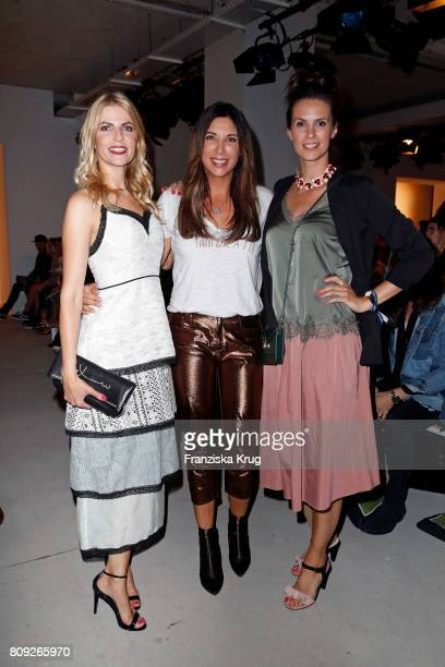 Tanja Buelter Alexandra Polzin and Katrin Wrobel attend the Rebekka Ruetz show during the MercedesBenz Fashion Week Berlin Spring/Summer 2018 at...