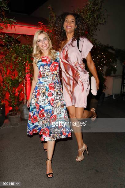 Tanja Buelter and Annabelle Mandeng during the Bunte New Faces Night at Grace Hotel Zoo on July 2 2018 in Berlin Germany