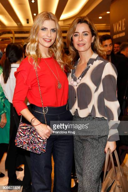 Tanja Buelter and Bettina Cramer during the celebration of 'Der Berliner Salon' by KaDeWe Vogue at KaDeWe on January 18 2018 in Berlin Germany