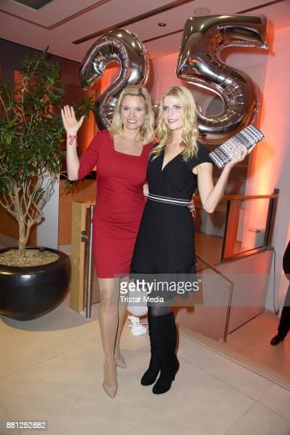 Tanja Buelter and Carola Ferstl attend the 25 years anniversary ntv event at Bertelsmann Repraesentanz on November 28 2017 in Berlin Germany