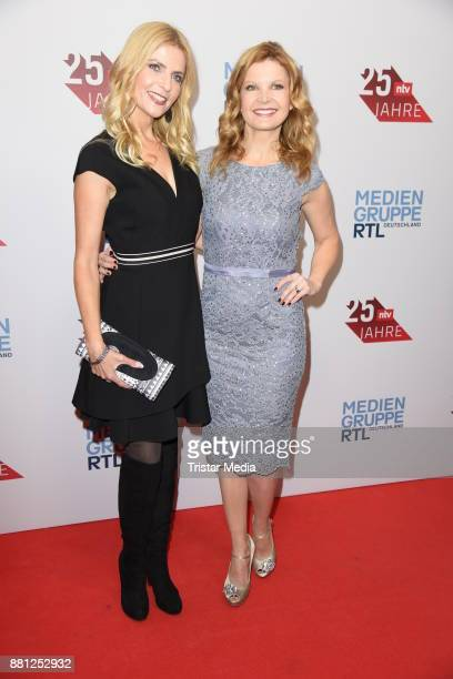 Tanja Buelter and Eva Imhof attend the 25 years anniversary ntv event at Bertelsmann Repraesentanz on November 28 2017 in Berlin Germany