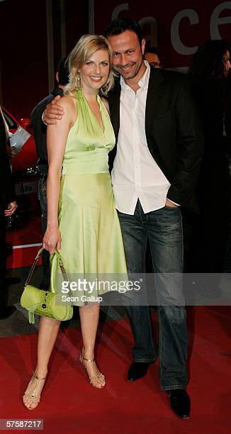 Tanja Buelter and friend Moritz Quiske arrive at the New Faces Award on May 11 2006 at the Berlin Congress Center in Berlin Germany