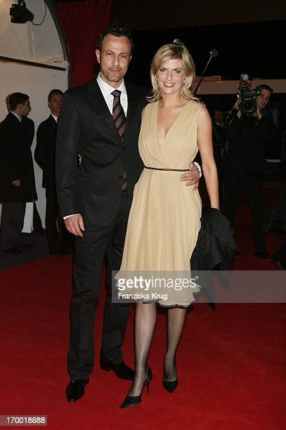 """Tanja Buelter And friend Moritz Quiske at The """"Iwc Grande Soiree Aviateur"""" At the SIHH in Geneva International Airport."""