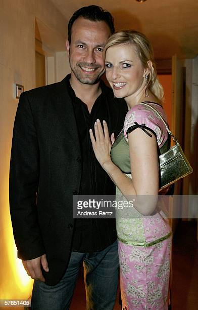 Tanja Buelter and friend Moritz Quiske attend the Magnum ice cream birthday party on May 18 2006 in Berlin Germany