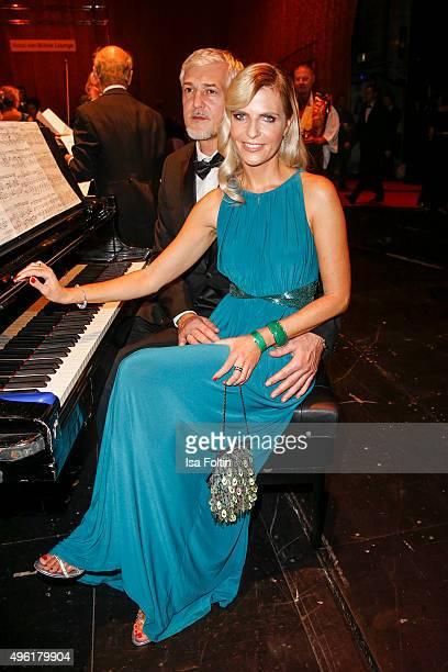 Tanja Buelter and her husband Nenad Drobnjak attend the 22nd Opera Gala at Deutsche Oper Berlin on November 7 2015 in Berlin Germany