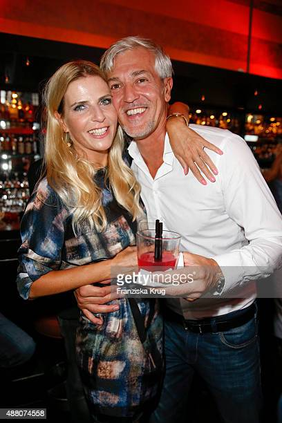 Tanja Buelter and her husband Nenad Drobnjak attend the Promi Shopping Queen with Tanja Buelter and Leonie Bechthold on September 13 2015 in Berlin...