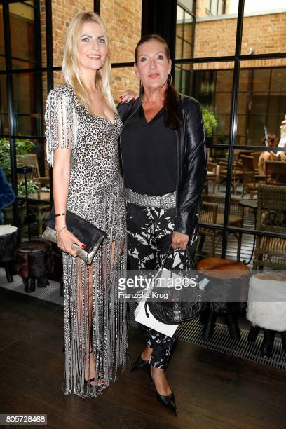 Tanja Buelter and Katy Karrenbauer attend the Annabelle Mandeng Hosts Ladies Dinner In Berlin on July 2 2017 in Berlin Germany