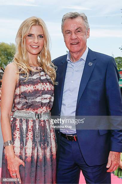 Tanja Buelter and Ottmar Hitzfeld during the opening of the New Clinton European headquarters near Berlin on July 11 2015 in DahlwitzHoppegarten...